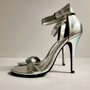 SOLD ON FB! Silver Heels Size 7